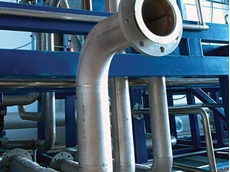 Bendpro's induction bending reduces labour costs and number of welds in plant piping construction