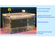 Underwater package seal testing
