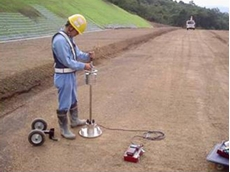 New falling weight deflectometer estimating construction of pavement or rigidity of subgrade