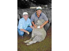 Warrnambool-based BioAg Fertility Specialist, Noel Horan, and Gavin Bensch of Kengurra, Dunkeld
