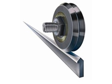 Dual Vee bearing guide wheels are rugged and economical