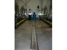 Blucher's 316L stainless steel drainage system was installed for Beringer Blass at their wine bottling facility