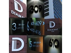 Signage for Diamant Hotel
