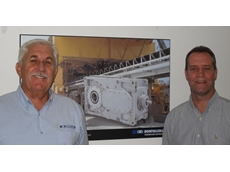 Peter Hiscocks (left) and Alan Young of drive solutions provider, Bonfiglioli Transmission (Aust)