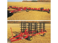 Heavy harrows with hydraulic control of all settings