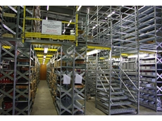 Bearing Wholesalers' new Super 1-2-3 Series Two Tier longspan shelving system allows for readily accessible, active picking of stock products
