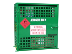 Storemasta aerosol storage cabinets are lockable, and feature a durable green powder coated finish