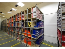 Superglide 123 mobile shelving systems can be supplied with garment rails or flat shelves as required