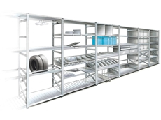 Long span shelving system accessories are designed to maximise storage space