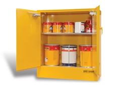 Bowen Group's flammable safety cabinets feature high strength perforated shelves