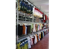 Garment rails for Super 123 boltless shelving are compatible with most types of clothes hangers