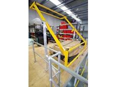 Bowen Group's mezzanine pallet safety gates feature a lightweight, yet high strength design