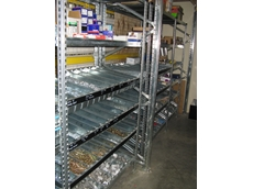 Storage trays and dividers ensure loose products stored in Super 1-2-3 Series longspan shelving systems can be readily accessed