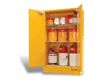 Dangerous goods storage cabinets from Bowen Group are available in a range of capacities