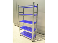 The perforated plastic shelf panels available for Super 1-2-3 long span shelving are suitable for areas that require high hygiene