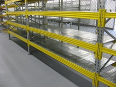 By incorporating modular metal shelf panels, Superbuild pallet racking can be used for a variety of applications