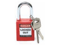 Brady Safety Plus padlocks are supplied with two keys
