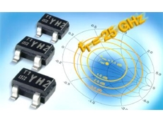 Bipolar RF transistors with 25GHz transition frequency