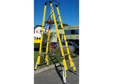 Step platform ladders with levellers