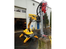 Designed for the Brokk 100 or Brokk 160, the compact TE160 drill attachment delivers 35 to 60 foot-pounds of impact energy