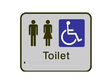 Unisex Accessible Toilet braille sign