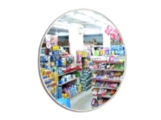 Indoor convex mirrors serve as theft deterrents in shopping centres