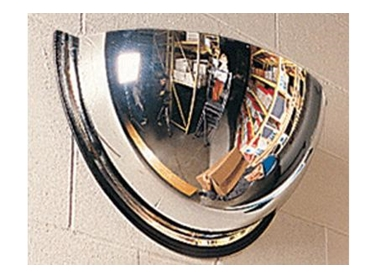 Half Dome Mirrors help prevent accidents at blind corners, intersections and exits