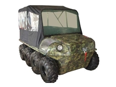Available with a variety of options including full vehicle cover for colder climates
