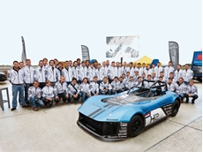 The students with the Forze VI race car