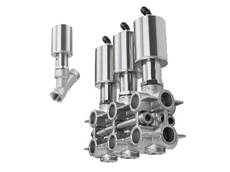 The 2000 INOX angle seat valve joins Burkert Fluid Control Systems' line of 2/2-way valves