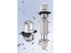 The new Type 8681 control head with universal connection to all hygienic valves