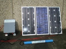 New solar power water conditioners developed by CALCLEAR Water Conditioners