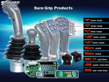 SureGrip Controls make Joystick Controllers and ergonomic and multifunction