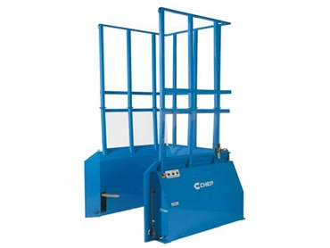 Pallet Dispenser/Accumulator dispenses 4 pallets per minute