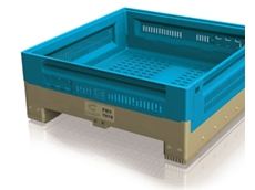 FB3 foldable plastic bins are ideal for the transportation of produce