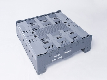 Plastic folding bulk storage bins available in vented and non vented
