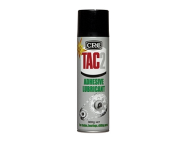Adhesive lubricant spray for chain drives and conveyors