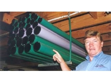 John McNab points out the colour-coded piping.