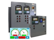The touch screen controller provides full monitoring and control of industrial dust collectors