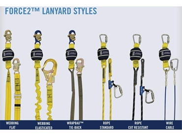 FORCE2™ Shock Absorbing Fall Protection Lanyards