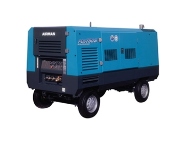 Large Airman portable diesel compressor