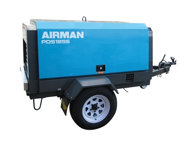 Airman portable diesel trailer mounted compressor