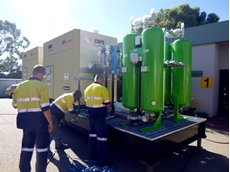 The self-contained skid mounted compressors