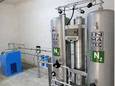 CAPS INMATEC nitrogen generator: Nitrogen can be easily generated on-site from ambient air