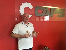 John Bishop, CAPS National Sales and Marketing Manager - Wholesale with the three awards