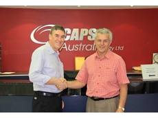 Rick Bryant (R), CAPS' new General Manager for West Africa, with the company's Export Manager, Greg Baldwyn