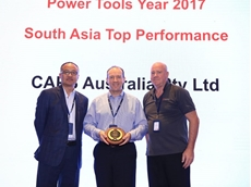 Shawn Zhang, VP for Ingersoll Rand Asia Pacific (left), CAPS Wholesale Manager, John Bishop (right), and CAPS Executive General Manager, Glenn McIntyre (middle).
