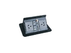 Pop up hidden cable connection panels are ideal for use in boardrooms and conference room