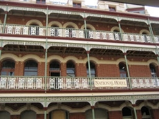 The National Hotel in Fremantle with all new aluminium balustrades and lacework