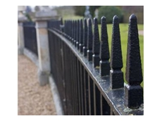 Long lasting wrought iron fencing from Chatterton Lacework